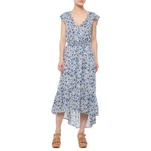 Lucky Brand Felicia Blue Floral Sleeveless Dress